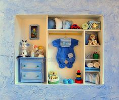 Cuadro con miniaturas espacio niño
