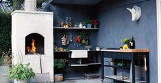 Sådan indretter du et udekøkken - få alle fakta og regler her Outdoor Rooms, Outdoor Gardens, Outdoor Living, Churros, Backyard, Patio, Outdoor Projects, Pergola, Cottage