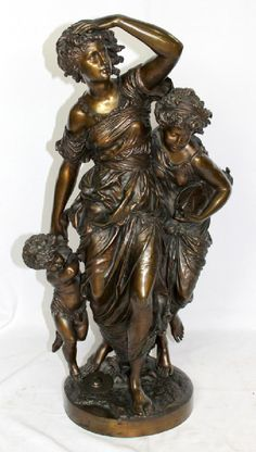 A French Bronze Group by Mathurin Moreau.