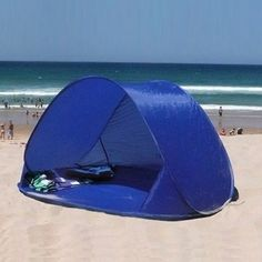 Instant Pop Up Family Beach Tent - Milan Direct & Battery powered portable handheld air conditioner small enough to ...
