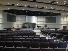 Red Oak First Baptist Church - Auditorium approach to 850 seats  by Brown, Brown and Associates Architects
