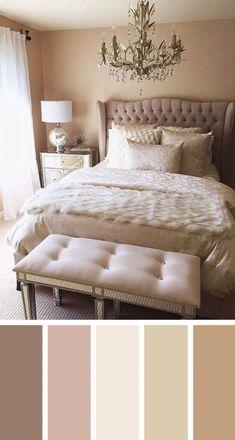 12 gorgeous bedroom color schemes that will give you inspiration for your next bedroom remodel - kleine Zimmer - Bedroom Next Bedroom, Romantic Master Bedroom, Master Bedroom Design, Beautiful Bedrooms, Home Decor Bedroom, Bedroom Furniture, Bedroom Ideas, Girls Bedroom, Bedroom Bed