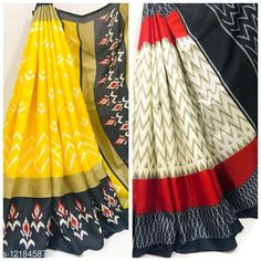 Sarees IKKAT PRINT KHADI BLENDED SAREE PACK OF 2 Saree Fabric: Khadi Silk Blouse: Running Blouse Blouse Fabric: Khadi Silk Pattern: Printed Blouse Pattern: Printed Multipack: Pack of 2 Sizes:  Free Size Country of Origin: India Sizes Available: Free Size   Catalog Rating: ★4.3 (280)  Catalog Name: Kashvi Refined Sarees CatalogID_2332139 C74-SC1004 Code: 226-12184587-0261