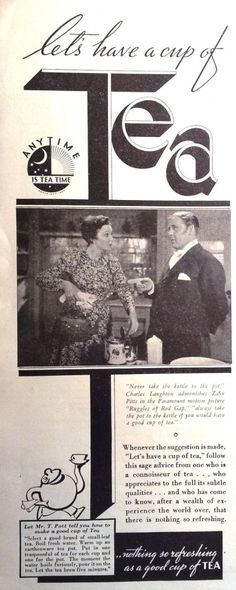 Vintage Ads Relaxing Tea, It Happened One Night, Weekend Events, War Film, Myrna Loy, Anniversary Dates, Groundhog Day, Event Themes, Movie Releases