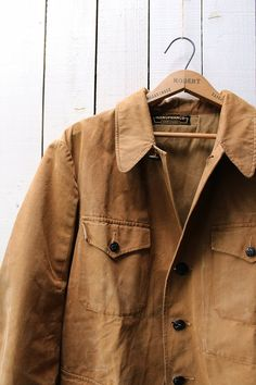 5b30616510a4c French vintage hunting jacket/1950's/cotton by SASAKIYOHINTEN Hunting  Jackets, Work Jackets,