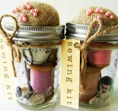 Mason Jars | 7 Clever DIY Sewing Organizers That Will Leave You in Awe