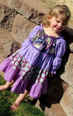 Purple Twirl Dress -  Sizes 12m, 18m, 2T, 3T