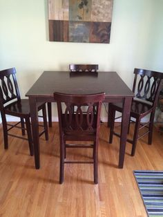 Pub Style 4 Chairs Table And ChairsDining TableTablesBuy SellOntario BoardStyle
