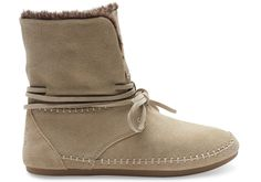 Oxford Tan Suede Faux Hair Women's Zahara Booties | TOMS
