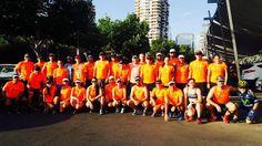 A las 8:00 comenzamos nuestro entrenamiento con rutas de hasta 25k para las Maratones de ese semestre #Tokyo #Pretoria #Santiago #Boston #Londres #Montevideo #Rio #IsladePascua