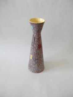Scheurich West German Foreign vase from via Etsy. Glazed Ceramic, Vintage Ceramic, Germany, Pottery, Hand Painted, Vase, Ceramics, Purple, Color