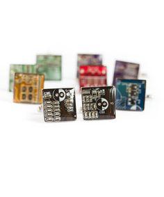 Circuit board Cufflinks modern cufflinks por ReComputing en Etsy
