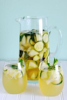 White Cucumber Sangria | 21 Cocktails You Can Totally Pretend Are Healthy - Buzzfeed