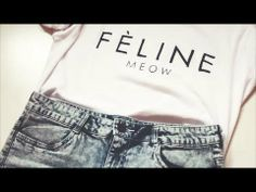 DIY: Felin Meow tee tutorial