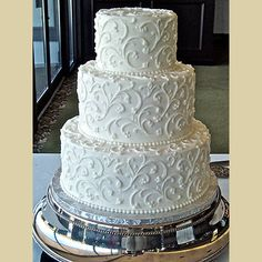 Simple But Elegant Wedding Cakes & Wedding Cake Makers & Three-dimensional sculpted cakes, wedding cakes & White Wedding Cakes, Elegant Wedding Cakes, Beautiful Wedding Cakes, Wedding Cake Designs, Beautiful Cakes, Wedding Vintage, Trendy Wedding, Simple Elegant Wedding, Elegant Cakes