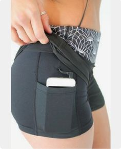 Athletic wear with a pocket for my phone would be awesome. Short or capris.