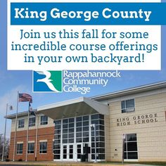 To King George County Virginia  join us this fall for incredible course offerings in your own backyard http://ift.tt/2aeU0mo #rccfall  #transferclass #rappahannock #community #college #NNKVA #comm_college #rccfall #newkent #kinggeorge #warsaw #Gloucester #nnk #northernneck #glenns #northernneckva #middlepeninsula #midpenva