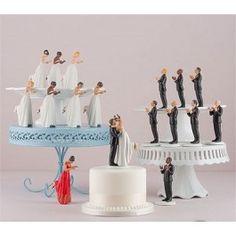 True Romance Interracial Wedding Cake Topper