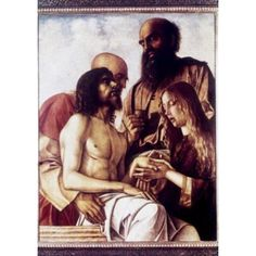 Lament Over the Dead Christ (Pesaro Altarpiece) ca 1473-76 Giovanni Bellini (ca1430-1516 Italian) Tempera on panel Canvas Art - Giovanni Bellini (18 x 24)