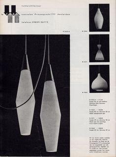 1958, advertisement for Raak lamps...