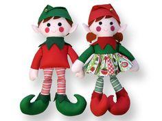 Elf Twins Christmas Doll Sewing Pattern PDF von FunkyFriendsFactory, $12,99