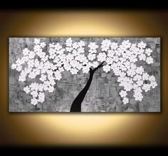 LARGE CANVAS ART Painting Wall Art Abstract by ModernArtsStudio, $400.00