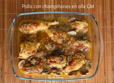 Pollo con champiñones en olla programable GM Pollo Guisado Olla Gm, Sin Gluten, Chicken, Meat, Cooking, Food, Recipes, Chicken With Mushrooms, One Pot Dinners