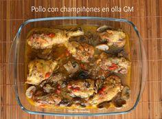 Bloc de recetas: Pollo con champiñones en olla programable GM