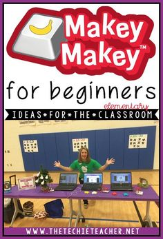 This pin is great to keep handy for makey-makey fans. Academic Ways to Use the MaKey-MaKey in the Elementary Classroom: Fun ways to advance coding in the classroom! Technology Lessons, Teaching Technology, Educational Technology, Teaching Biology, Digital Technology, Teaching Tools, Teaching Ideas, Elementary Library, Elementary Schools