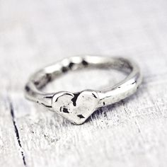 Baby Heart Stacking Ring from Island Cowgirl Jewelry