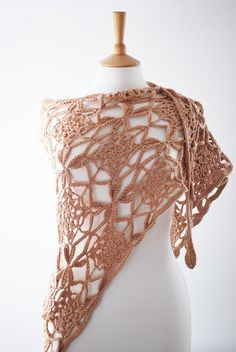 The Naos Crochet Motif Triangular Chunky Shawl.  annerstreet  $69