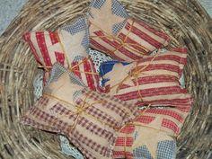 Primitive Applique Flag Pillows