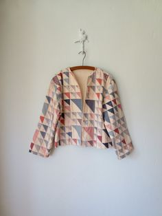 Quilted Jacket ... Vintage 80s Boho Folk Blazer ... Large. $38,00, via Etsy.