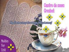 Materiales gráficos Gaby: Camino de mesa y cenefa en crochet