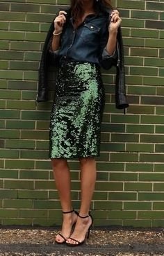 Green sequins – we're kind of obsessed.