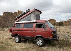 VW Syncro.  Small camper that can off road.  Perfection!