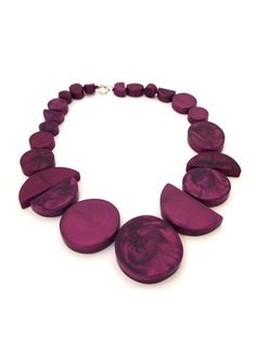 Necklace, $280    Dinosaur Designs Clay Jewelry, Diy Jewellery, Neon Accessories, Dinosaur Design, Color Pop, Polymer Clay, Chokers, Gems, Plum