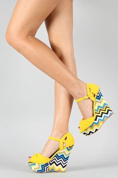 Perfect Color Combinations! Zig Zag Wedges!