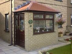 Looking for porch builders in South Yorkshire? LSM Builders are expert porch builders and can design and construct a porch that meet your taste and budget Porch Flat Roof, Porch Roof Styles, Roof Styles, Porch Uk, Entrance Porch, Porch Designs Uk, Cottage Porch, Porch Builders, Porch Design