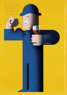 ALAN FLETCHER (1931-2006) D & AD 21ST. 1983. poster