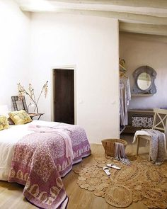 Spanish country bedroom - relaxed and personal