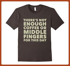 cd9777e28 Mens There's Not Enough Coffee Or Middle Fingers T-shirt Large Asphalt -  Food and