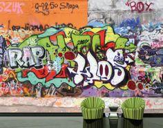 fotobehang graffitti