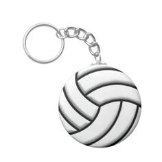Shop Volleyball Ball Keychain created by destei. Volleyball Jerseys, Custom Buttons, Cool Designs, Sport, Car, Ideas, Deporte, Automobile, Sports