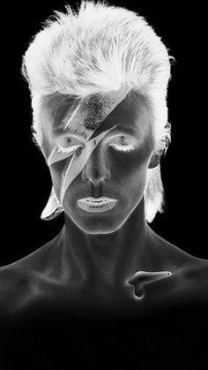 David Bowie Tribute, David Bowie Art, The Thin White Duke, Black And White, The Illusionist, Aladdin Sane, He Makes Me Happy, Rock N Roll Music, Ziggy Stardust