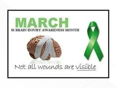 March is Brain injury Awareness month. Some people do not survive this. Let's not forget those who lost the fight. Brain Injury Recovery, Brain Injury Awareness, Stroke Recovery, Tramatic Brain Injury, Injury Quotes, Post Concussion Syndrome, Brain Aneurysm, Vision Therapy, Head Injury