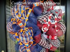 Deco Mesh Alabama and Auburn House Divided by lilmaddydesigns, $95.00