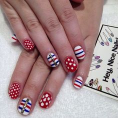 Pretty nails great for 4th of july
