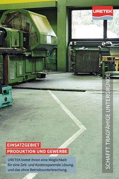 #Betonboden-#Anhebung und #Fundament-#Stabilisierung #Industrie #Gewerbe #Betonboden #URETEK #Floor-Lift