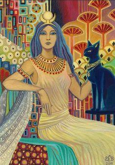 Bast Egyptian Cat Goddess || by Emily Balivet